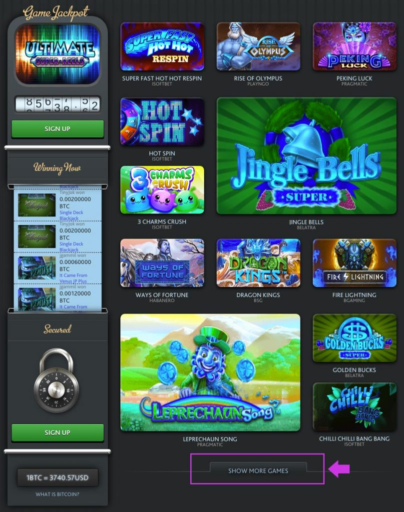 7BitCasino.com Slots Overview
