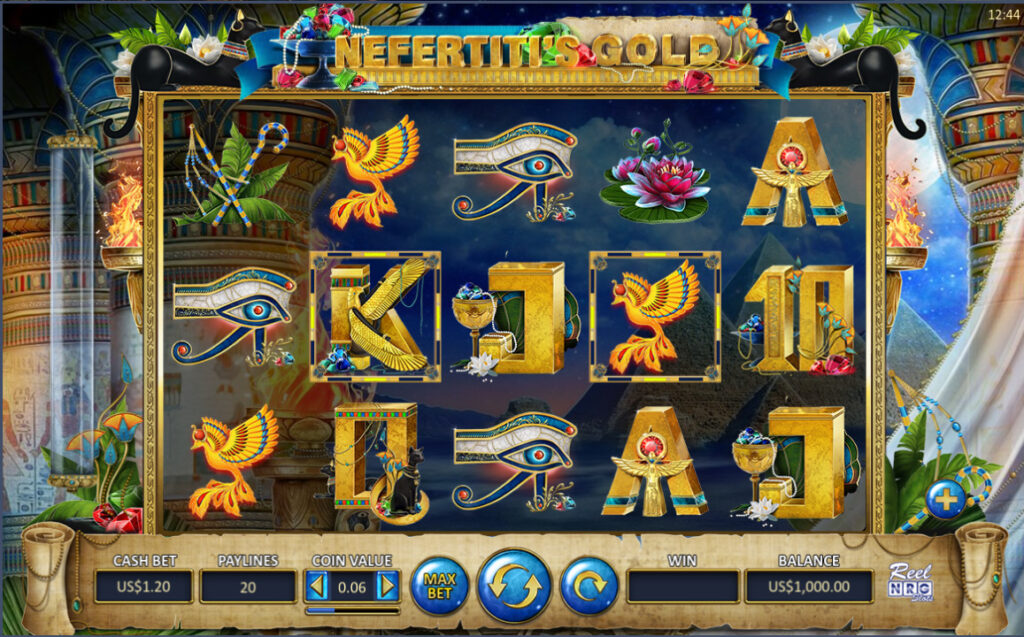 nefertitis gold - bitcoin video slot