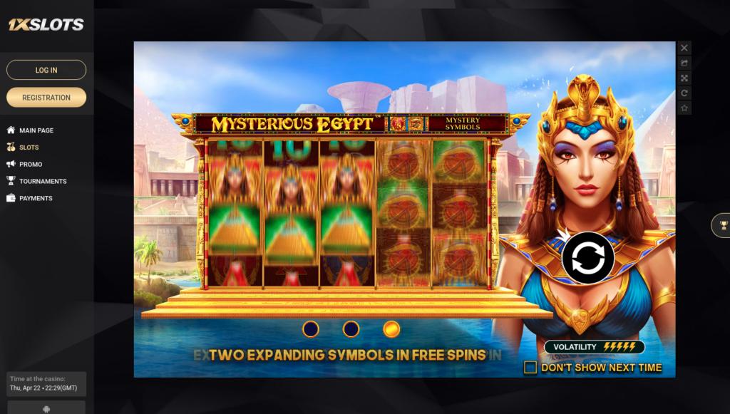 misterious egypt slot