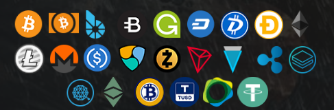 supported cryptocurrencies